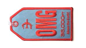 OMG Embroidered Luggage Tag