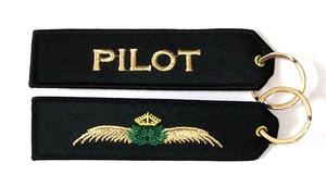 Pilot Wings Embroidered Key Ring Banner