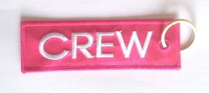 Pink Crew Embroidered Key Ring Banner