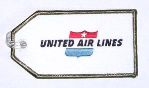 United Retro Embroidered Luggage Tag