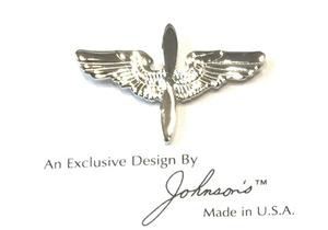 Large Wing/Propeller Pin - Silver