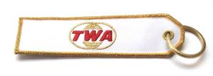 TWA Embroidered Key Ring Banner