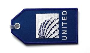 United Airlines Embroidered Luggage Tag - Current Logo