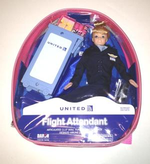 United Airlines Flight Attendant Doll - Blond