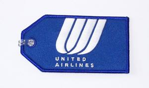 United Airlines Blue Embroidered Luggage Tag