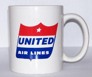 United Airlines 50s Shield Coffee Mug