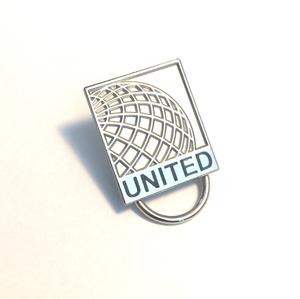 United Eyeglass Holder Lapel Pin with United Name