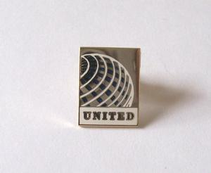 United Airline Globe Lapel Pin