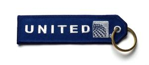 United Airlines Embroidered Key Ring Banner - Current Logo