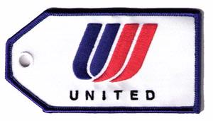 United Airlines Embroidered Luggage Tag