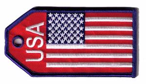 US Flag Embroidered Luggage Tag