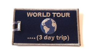 World Tour Embroidered Luggage Tag