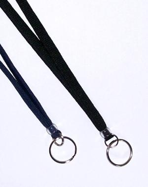 Woven Neck Lanyard w/Ring Attachment
