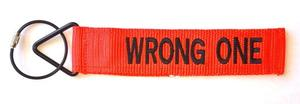 'TudeTags™ Wrong One Luggage Tag - Orange/Black