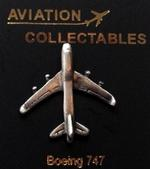 Pewter Boeing 747 Lapel Pin