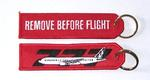 Remove Before Flight/777 Embroidered Key Ring Banner