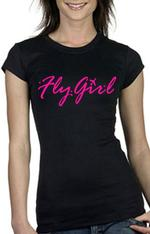 Black Fly Girl Short Sleeve Shirt