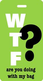WTF? Luggage Tag - Lime