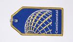 Continental Airlines Embroidered Luggage Tag