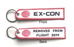 Ex-Con Embroidered Key Ring Banner