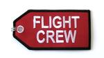 Flight Crew Red Embroidered Luggage Tag