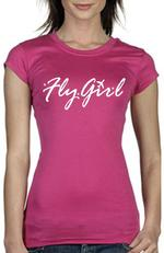Pink Fly Girl Short Sleeve Shirt