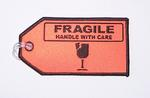 Fragile Embroidered Luggage Tag
