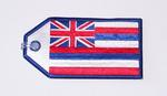 Hawaii Flag Embroidered Luggage Tag