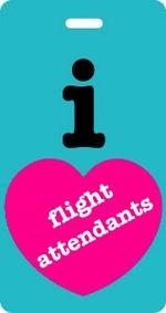 I Love Flight Attendants Luggage Tag