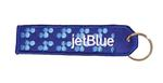 jetBlue Embroidered Key Ring Banner