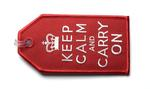 Keep Calm and Carry On Embroidered Luggage Tag