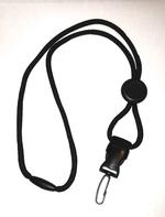 Black Cord Lanyard with Plastic Swivel Hook