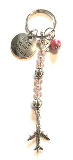 Live Your Dream Charm Keychain - Pink