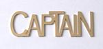 Metal CAPTAIN Identification Tag