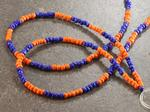 Orange and Blue Beaded Lanyard