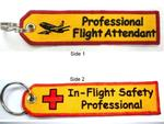 Professional Flight Attendant Key Ring Banner
