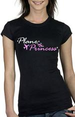 Black Plane Princess Short Sleeve Shirt