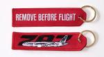 Remove Before Flight/787 Embroidered Key Ring Banner
