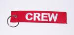 Red/White CREW Embroidered Key Ring Banner