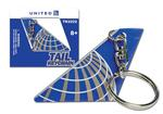 United Airlines Tail Key Chain