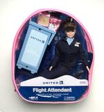 United Airlines Flight Attendant Doll - Brunette