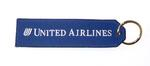 United Airlines Embroidered Key Ring Banner
